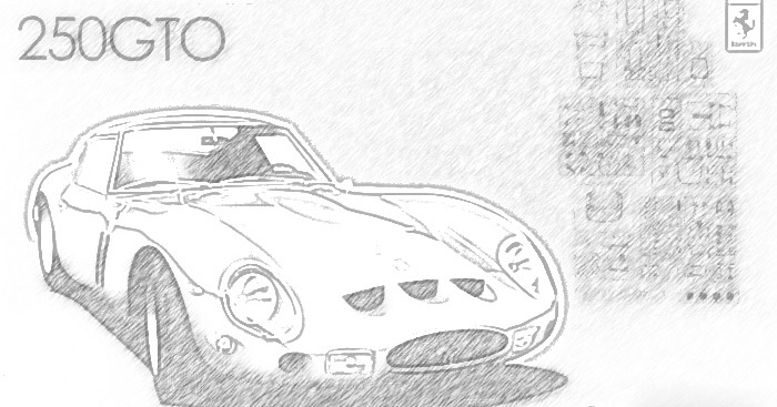 Presentation of the Fujimi 123370 - Ferrari 250GTO